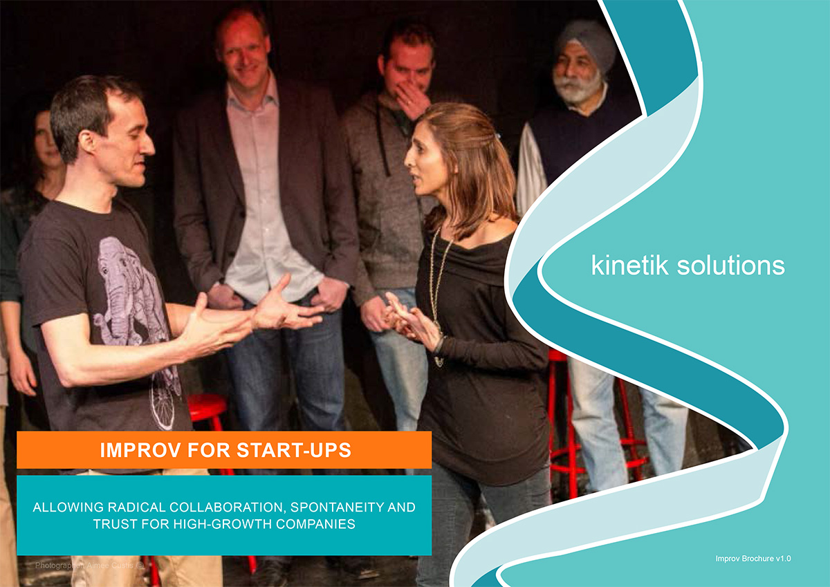 People in the Kinetik Improvisation for Startups Course
