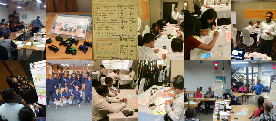 Collage of pictures from continuous improvement courses